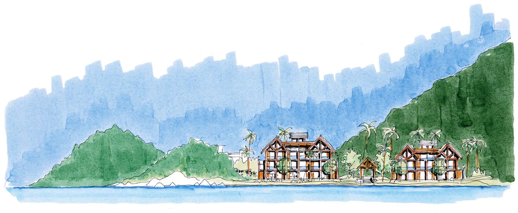 EC88 Hon Thi Island_elevation_beachfront hotelEKISTICS