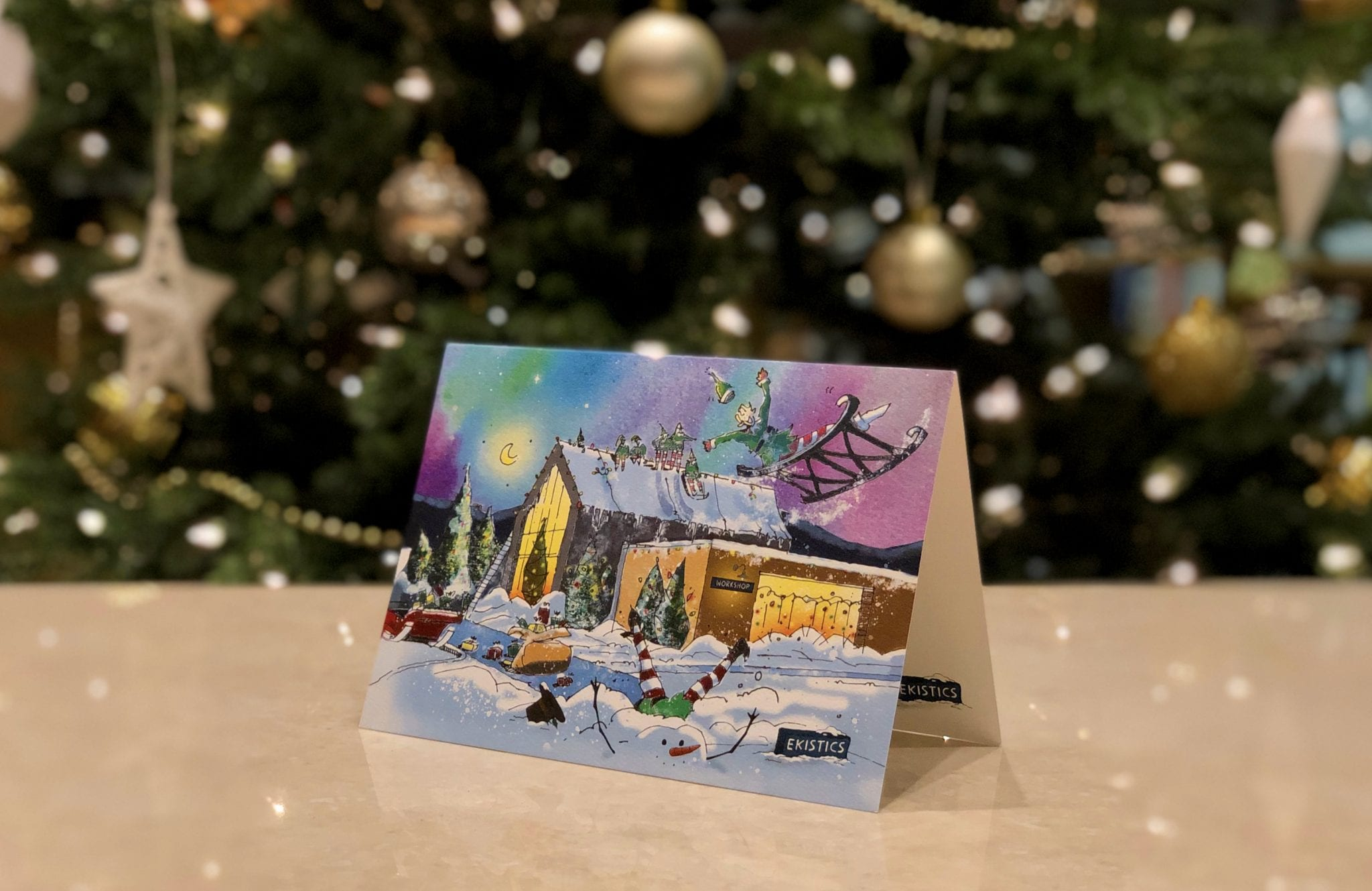 Christmas Card Printed EKISTICS