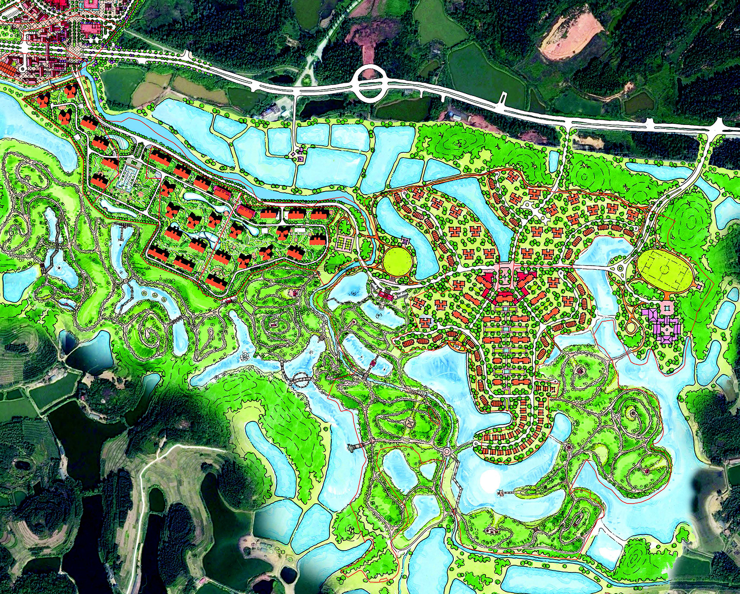 Greenland Zhaoqing_eco park district_EKISTICS