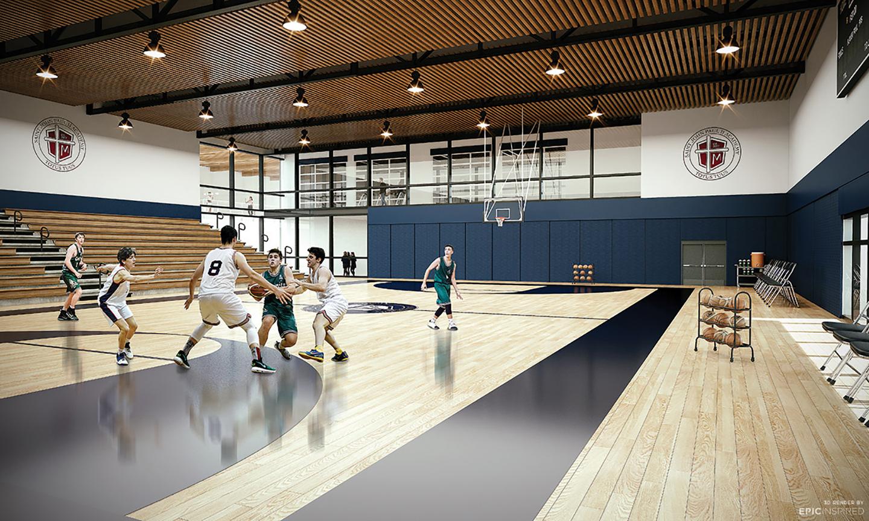 St John Paul II Academy gym EKISTICS