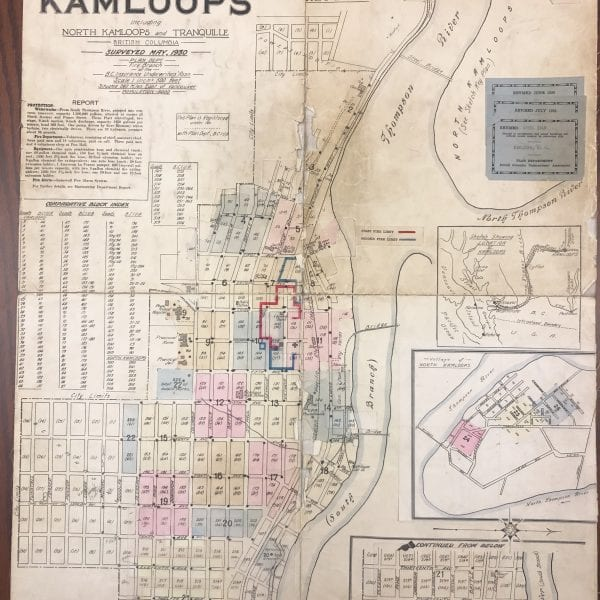 nsurance Plan of Kamloops - thompson river, city centre